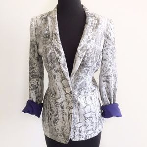 armani exchange • carey floral sketch print blazer